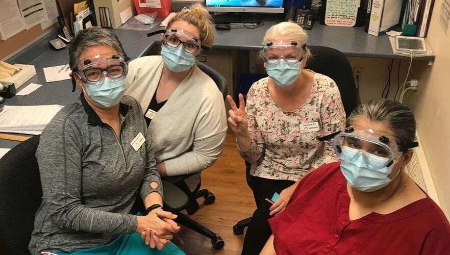 Hospice Care Ottawa Nursing staff in Personal Protective Equipment