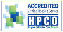Hospice Palliative Care Ontario seal of accreditation for visiting hospice services